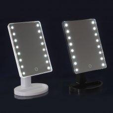 ЮниLook Зеркало с LED-подсветкой, USB, 4хААА, пластик, стекло, 16,7х27см, 2-3 цвета