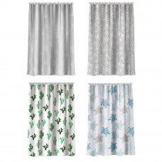 """VETTA Шторка для ванной, ПЕВА, 180x180см, с принтом, """"Флора и фауна"""", 4 дизайна"""