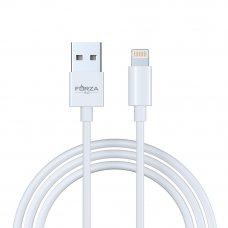 FORZA Кабель для зарядки iP, Эталон, 1м, 2А, впластиковомбоксе, белый