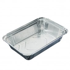 Форма для запекания, алюминиевая фольга, 21x14,8x3,8см, дно: 17,4x10,4см, 780мл, L-край, арт.99-06