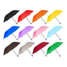 Зонт универсальный, механика, металл, пластик, полиэстер, 53,5см, 8 спиц, 12 цветов, 3375S