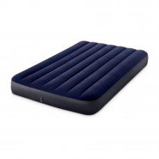 INTEX Кровать надувная Classic downy (Fiber tech) Фул, 1,37м x 1,91м x 25см, 64758