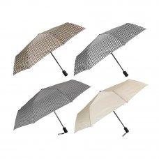Зонт женский, автомат, пластик, сплав, полиэстер, 53,5см, 8 спиц, 2 цвета
