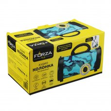 FORZA Колонка беспроводная, цвет хаки, 25см, 1200 мач, Micro-SD, USB, AUX, FM