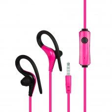 FORZA Наушники внутриканальные проводные с креплением за ухо, Спорт, цветные, 120см, микрофон