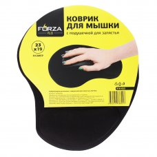 FORZA Коврик для мышки с подушечкой для запястья, 23х19см, резина, полиэстер