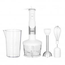 LEBEN Блендер электрический 500Вт, чоппер, венчик, мерный стакан, софт-тач, цвет белый