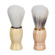 ЮниLook Помазок для бритья, деревянная основа, искусств.ворс 80%, свиной ворс 20%, 9,5x3см, 2 диз.