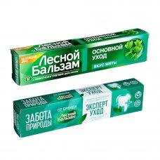 Зубная паста Лесной бальзам со вкусом мяты/с бальзамом для дёсен, 75мл