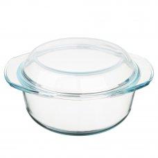 SATOSHI Кастрюля жаропрочная с крышкой, стекло, 27х22х13см, 2,5л