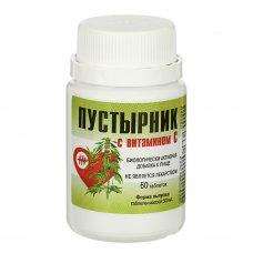 БАД Пустырник с витамином С, таблетки массой 500 мг, 60 таб.