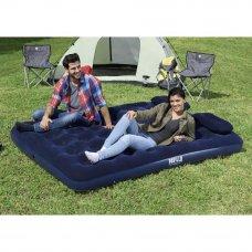 BESTWAY Кровать надувная Queen, 203x152x22см, с ручным насосом и 2 подушками, 67374N