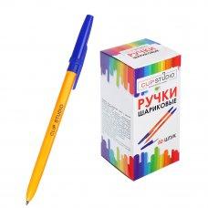 ClipStudio Ручка шариковая синяя, с желтым корпусом, линия 0,7 мм
