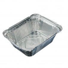 Форма для запекания, алюминиевая фольга, 15x12,4x4,4см, дно: 10,7x8,1см, 490мл, L-край, арт. 99-05