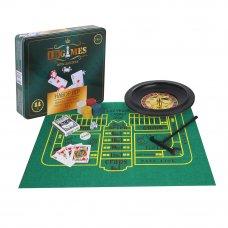 LDGames Набор игр 5в1 (блэкджек, покер, крепс, рулетка, покер на костях) 7,25х32х28см, в метал.короб