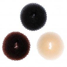 BERIOTTI Заколка-бублик для волос, поролон, d5,5см, 3 цвета