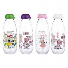 HEREVIN Милки Бутылка для молока 1000 мл, стекло, 3 цвета, 111708