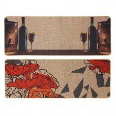 VETTA Коврик универсальный, 43х118см, полипропиленовое волокно, резиновая подложка, 2 дизайна