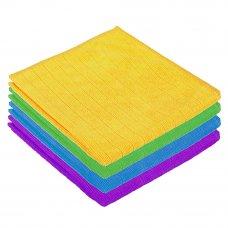 VETTA Салфетка из микрофибры в клетку, универсальная, 30х30см, 220 г/кв.м. 4 цвета, 3822
