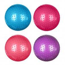 SILAPRO Мяч для фитнеса массажный, ПВХ, d75см, 1000гр, 4 цвета, в коробке