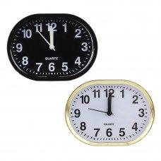 LADECOR CHRONO Будильник электронный, 13х10х4см, овальный, пластик, 1хАА, 2 цвета, арт.0019