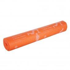 """SILAPRO Коврик для йоги, ПВХ, 61х173см, толщина 4мм, """"Асаны"""", 4 цвета"""