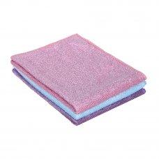 VETTA Набор салфеток из микрофибры для деликатных поверхностей 2шт, 25х35см, 280г/кв.м 3 цвета