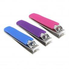 ЮниLook Книпсер для ногтей с силиконовой ручкой, длина лезвий 12мм, сталь, 8см, 3 цвета