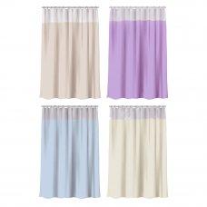 """VETTA Шторка для ванной, ПЕВА, 180x180см, """"Однотонная"""", 4 цвета"""