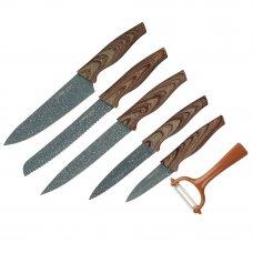 SATOSHI Алмаз Набор ножей кухонных 6пр, в магнитной коробке