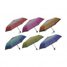 Зонт женский, автомат, сплав, пластик, полиэстер, длина 55см, 8 спиц, 4-6 дизайнов,3117-1