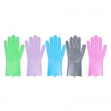 VETTA Перчатки для мытья посуды, силикон, 5 цветов
