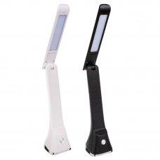 FORZA Лампа настольная с сенсор. выкл., 12 LED, 5Вт, 360 Лм, АБС пластик, диммер, 2 цвета