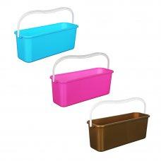 VETTA Ведро для мытья полов с ручкой прямоугольное, пластик, 45х15х17см, 3 цвета