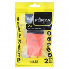 FORZA Зарядное устройство USB Палитра, 220В, 2USB, 2А, пластик, цветное