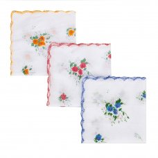 GALANTE Носовой платок, 100% хлопок, 28x28см, 3 цвета, арт.GL-2411
