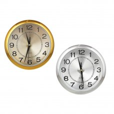 "LADECOR CHRONO Часы настенные d26см, пластик, плавный ход, 1xAA, 2 цвета ""хром/золото"""