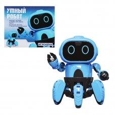 ИГРОЛЕНД Конструктор в виде робота с сенсорными датчиками, ABS, пит.4х1.5VAAA,16х12х12см