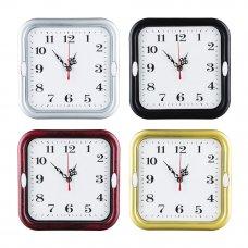 LADECOR CHRONO Часы настенные квадратные, 18,5 см, пластик, стекло, 1хАА, 4 цвета