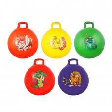 SILAPRO Мяч-попрыгун с ручками, ПВХ, 50см, 400гр, 6 цветов