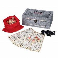 Лото в подарочной коробке 24х12,5х9см, МДФ, дерево, текстиль