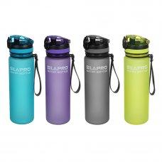 SILAPRO Бутылка спортивная для воды с поильником, 23x6см, 600мл, PC, силикон, 4 цвета
