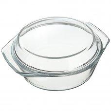 SATOSHI Кастрюля жаропрочная с крышкой, стекло, 23х20х9,5см, 1,4л