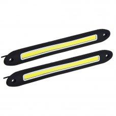 NEW GALAXY Дневные ходовые огни, LED 80шт, гибкий резин. корп., 255мм, 12V, белый, 2шт