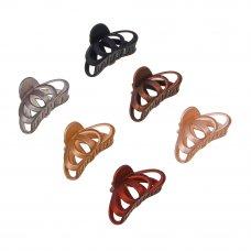 BERIOTTI Заколка-краб для волос, металл, пластик, 8,3см, 6 цветов, 4426-3