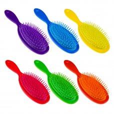 ЮниLook Расческа массажная, пластик, 11,5/7см, L22см, 6 цветов