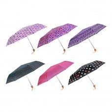 Зонт женский, механика, металл, пластик, полиэстер,53см, 8 спиц, 6 дизайнов, 305Q