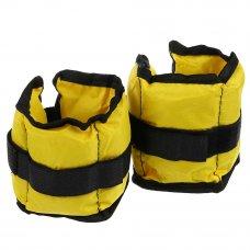 SILAPRO Набор утяжелителей для рук и ног текстильный, вес 1,0кг(+-90гр), 2шт х 0,5кг, 27х11см, 2 цв