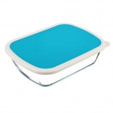 SATOSHI Форма для запекания/хранения жаропрочн. стекло, с крышкой из полипропил. 23х17,5х6см, 1,25л