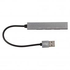 FORZA USB-хаб 4 в 1, 4xUSB 2.0, штекер USB, корпус металлик, пластик